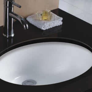 Gorham Vitreous China Oval Undermount Sink - White
