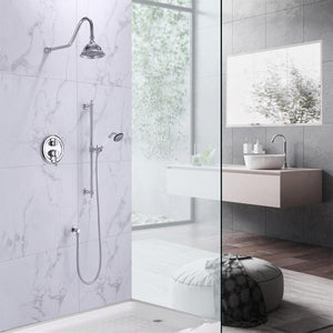 Grant Pressure Balance Shower System with Shower Head and Hand Shower
