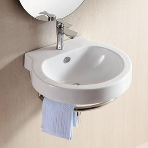 Granton Vitreous China Wall-Mount Bathroom Sink with Towel Ring