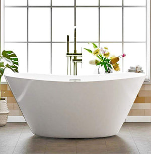 Grayson Acrylic Double-Slipper Freestanding Tub With Integral Drain