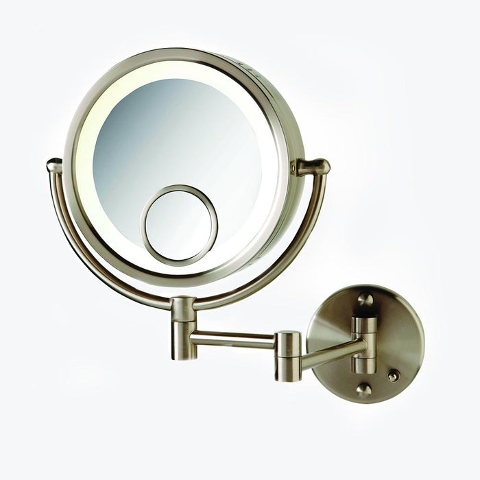 Hagerman Round Swinging Lighted Vanity Mirror