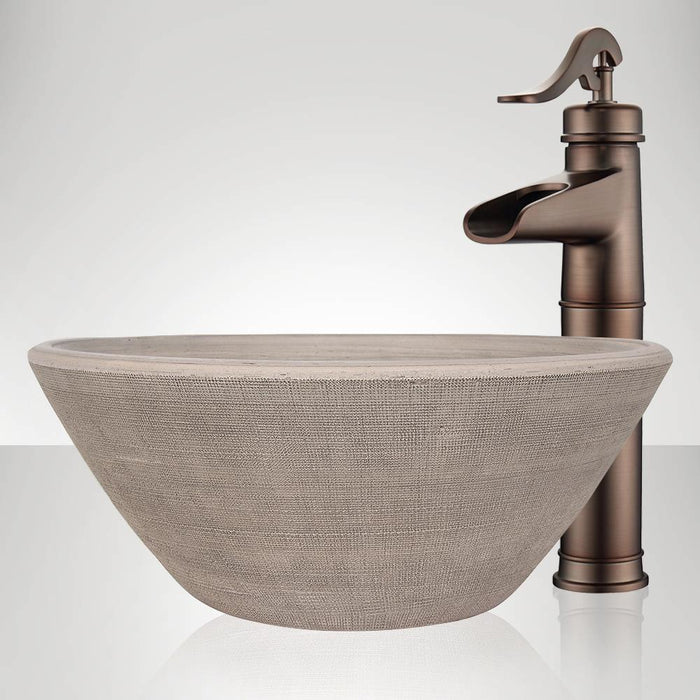 Handcrafted Conical Ceramic Vessel Sink - Gray