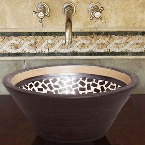 Handcrafted Conical Ceramic Vessel Sink - Speckled Brown