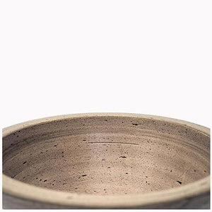 Handcrafted Round Ceramic Vessel Sink - Dark Gray