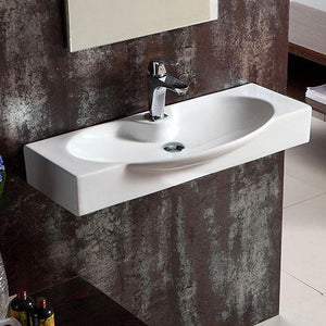 Harshaw Vitreous China Wall-Mount Bathroom Sink