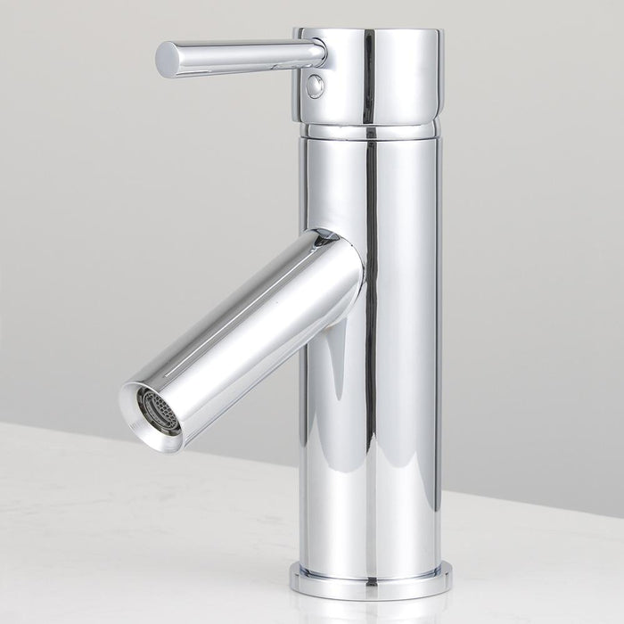 Henson Angled Spout Single-Hole Bathroom Faucet