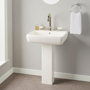 Hudson 300 Vitreous China Pedestal Sink