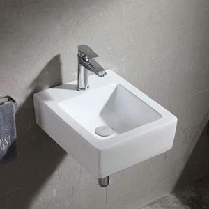 Inger Vitreous China Wall-Mount Bathroom Sink