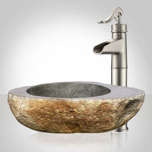Inola River Stone Vessel Sink