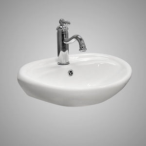Iola Vitreous China Wall-Mount Bathroom Sink