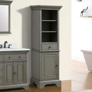 Kamela Bathroom Linen Storage Cabinet
