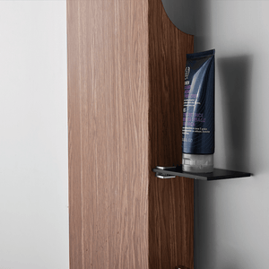 Karcsi Pressure Balance Stainless Steel Shower Panel with Hand Shower - Woodgrain Finish