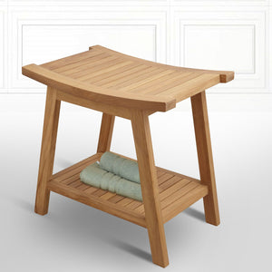 Kearny Teak Curved Shower Stool