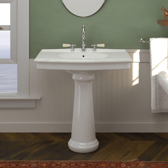 Keating Vitreous China Pedestal Sink