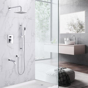 Kenton Pressure Balance Shower System with Shower Head, Hand Shower and Tub Spout