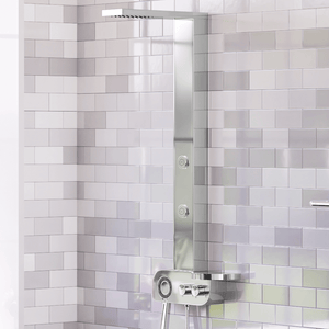 Kiden Pressure Balance Stainless Steel Shower Panel with Hand Shower - Polished Finish