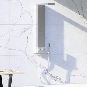 Kiera Pressure Balance Stainless Steel Shower Panel with Hand Shower - Polished Finish