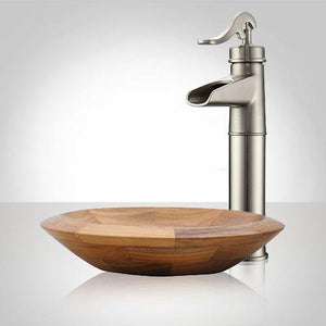 Knowles Teak Vessel Sink