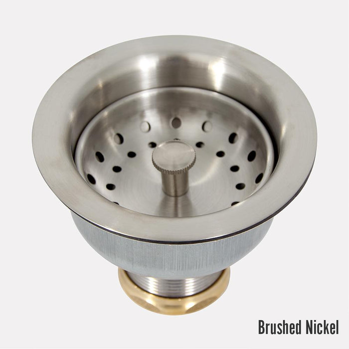 Long Shank Strainer Basket Sink Drain with Lift-Style Stopper - 3 1/2""