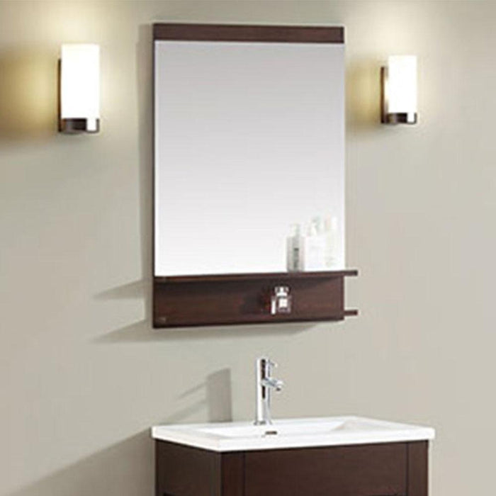 Lostine Framed Vanity Mirror - Light Espresso