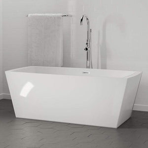 Madeira Acrylic Rectangular Freestanding Tub with Integral Drain