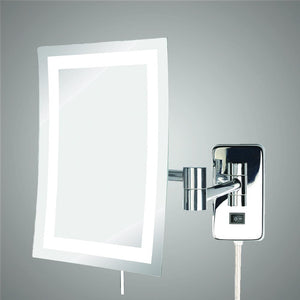 Malaga Rectangular Swinging LED Lighted Vanity Mirror