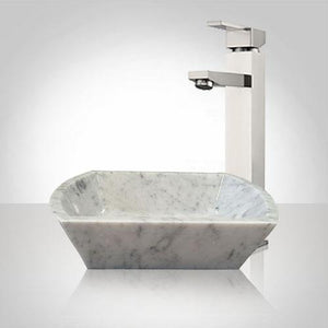 Malta Smooth Polished Carrara Marble Vessel Sink