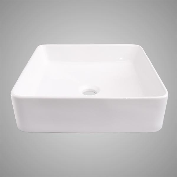 Mattice Vitreous China Square Vessel Sink