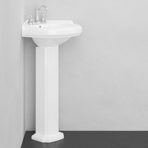 Meade Vitreous China Corner Pedestal Sink