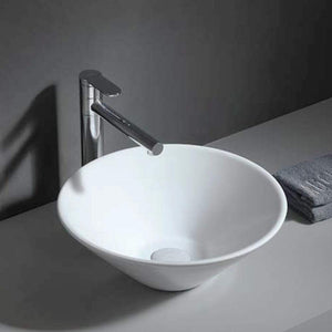 Mecan Vitreous China Round Vessel Sink