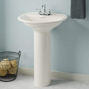Medina Vitreous China Pedestal Sink