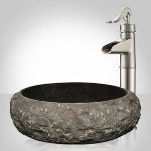 Milfay Marble Vessel Sink - Black