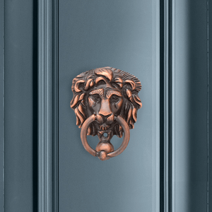 Miniature Lions Head Door Knocker