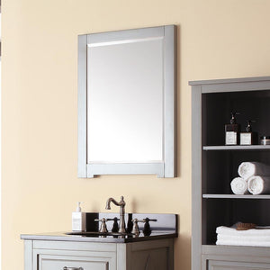 Mullen Framed Vanity Mirror - Grayish Blue