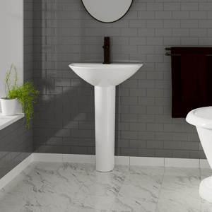 Norene Vitreous China Pedestal Sink