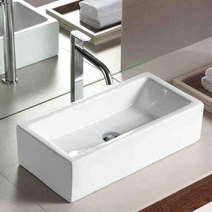 Ogema Vitreous China Rectangular Vessel Sink