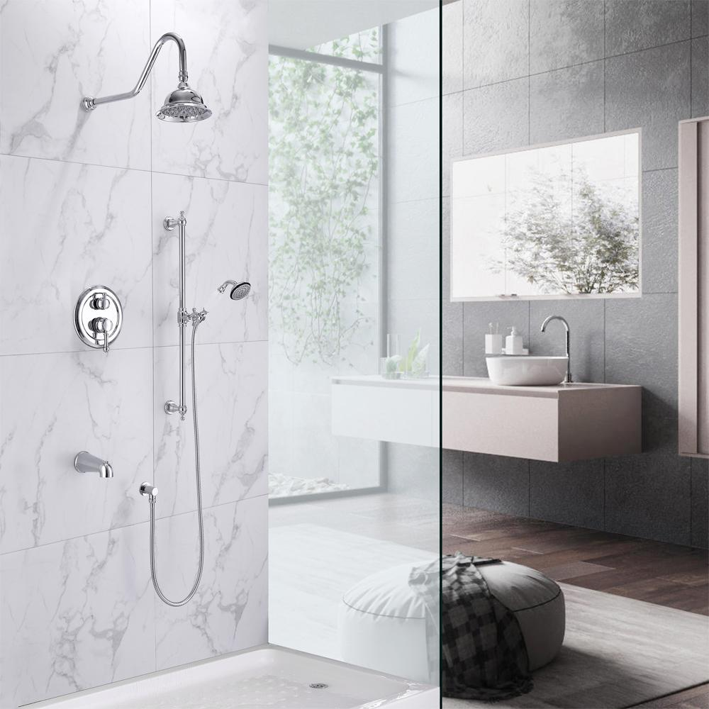 Owen Pressure Balance Shower System With Shower Head Hand Shower And Magnus Home Products
