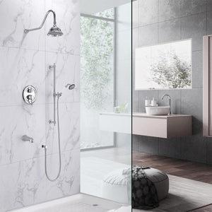 Owen Pressure Balance Shower System with Shower Head, Hand Shower and Tub Spout