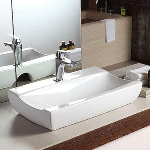 Oxbo Vitreous China Rectangular Vessel Sink