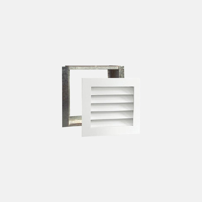 "Paintable Wood Air Return Grille - 12"" x 12"" Duct Size"
