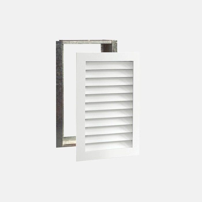 "Paintable Wood Air Return Grille - 12"" x 24"" Duct Size"