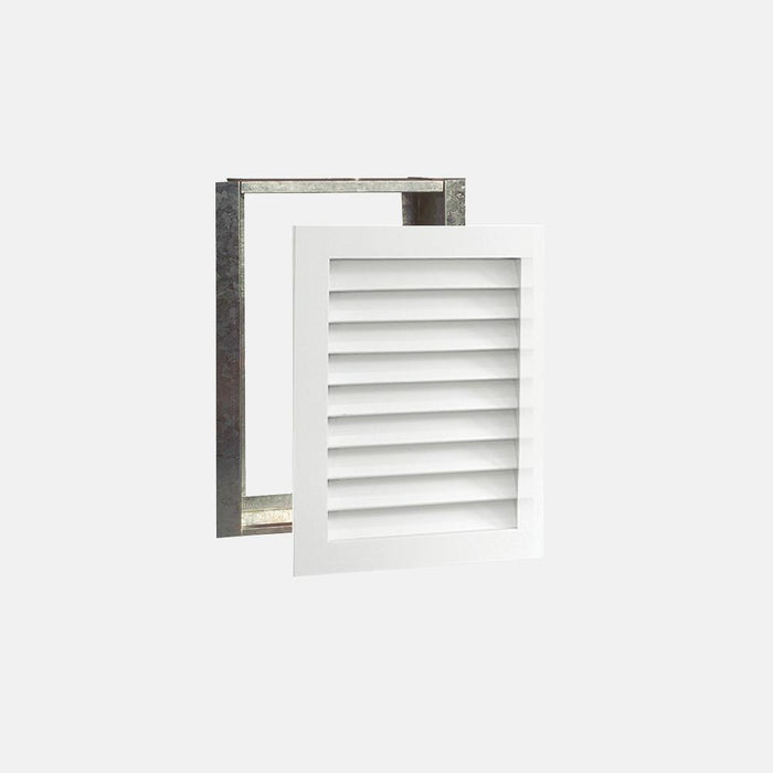 "Paintable Wood Air Return Grille - 14"" x 20"" Duct Size"