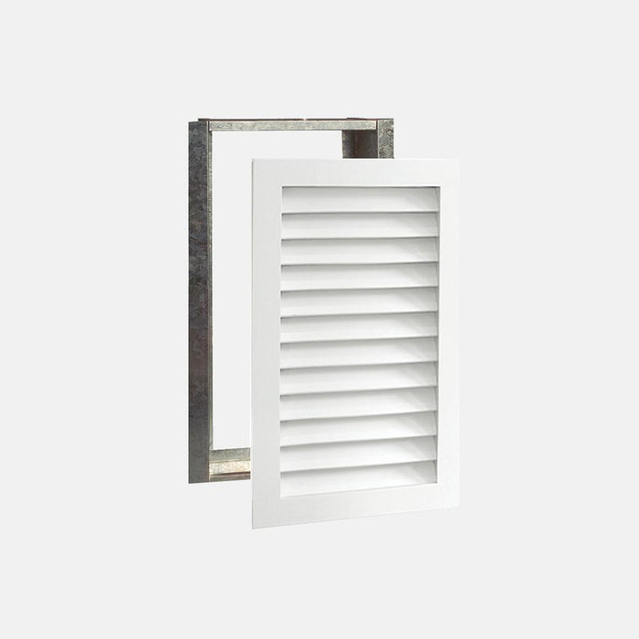 "Paintable Wood Air Return Grille - 14"" x 25"" Duct Size"