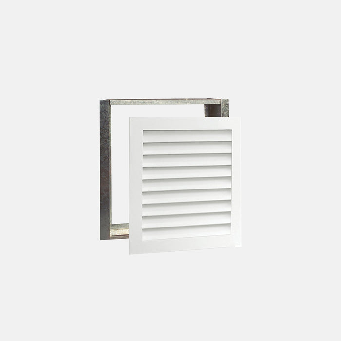 "Paintable Wood Air Return Grille - 16"" x 20"" Duct Size"