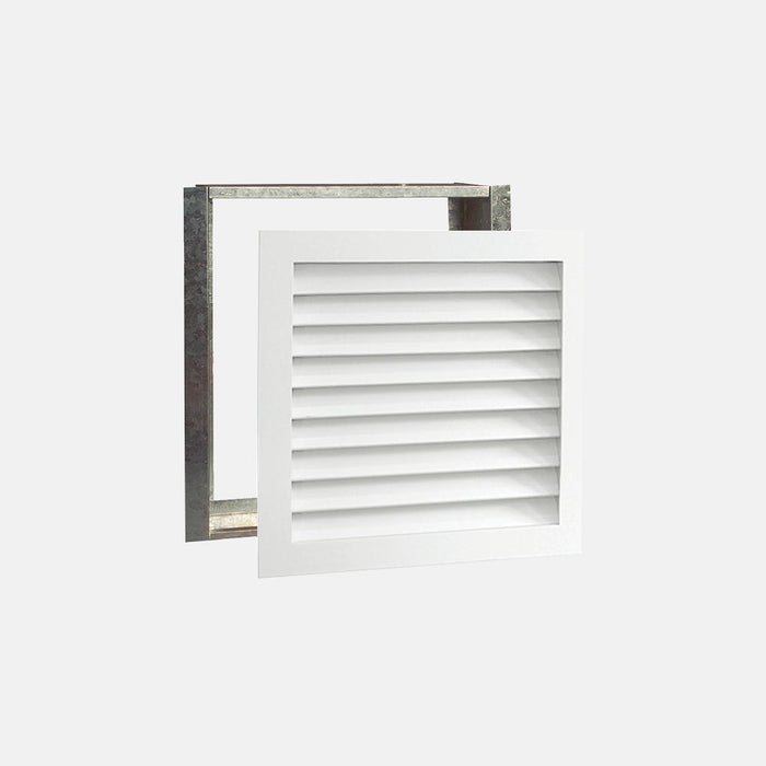 "Paintable Wood Air Return Grille - 20"" x 20"" Duct Size"