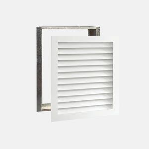 "Paintable Wood Air Return Grille - 20"" x 25"" Duct Size"