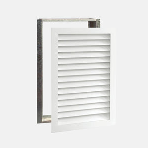 "Paintable Wood Air Return Grille - 20"" x 30"" Duct Size"