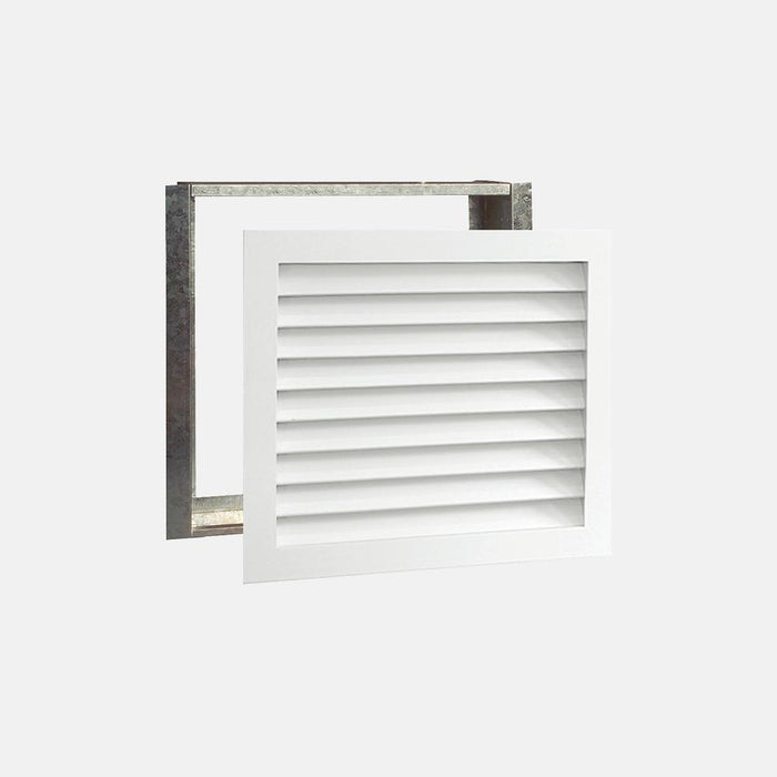 "Paintable Wood Air Return Grille - 25"" x 20"" Duct Size"