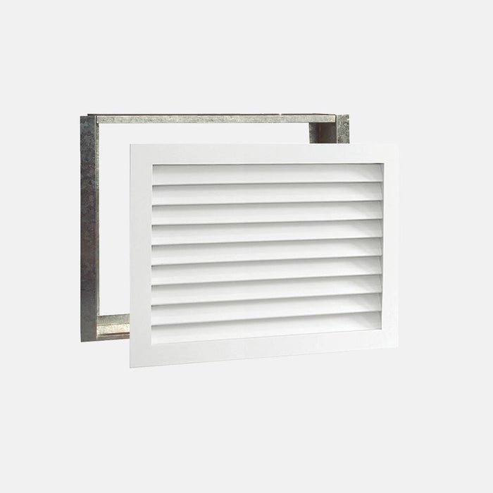 "Paintable Wood Air Return Grille - 30"" x 20"" Duct Size"