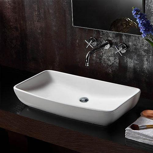 Palo Vitreous China Rectangular Vessel Sink